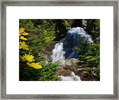 Out Of The Mt Waterfall  Framed Print by Randy Giesbrecht
