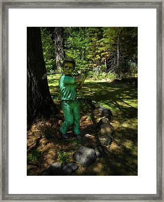 Out Of The Rough Framed Print by Frank Wilson