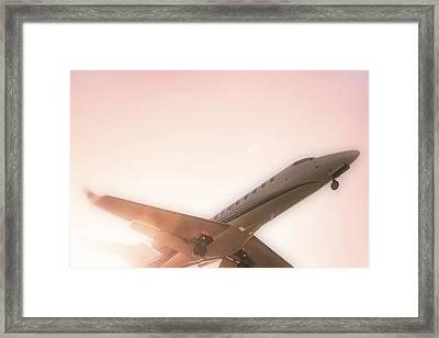Out Of The Sun - Cessna Citation - Pilot Framed Print by Jason Politte