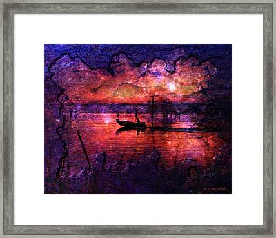 Out Of This World Fishing Hole Framed Print by J Larry Walker