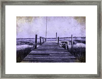Out On The Pier  Framed Print by Steven  Taylor