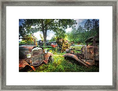 Out To Pasture Friends Framed Print by Debra and Dave Vanderlaan