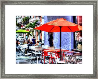 Dining Alfresco Framed Print by Debbi Granruth
