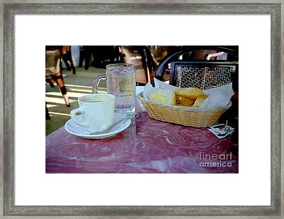 Outdoor Cafe - South Beach Miami Framed Print by Susan Carella