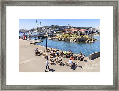 Outdoor Cafe Wellington New Zealand Framed Print by Colin and Linda McKie