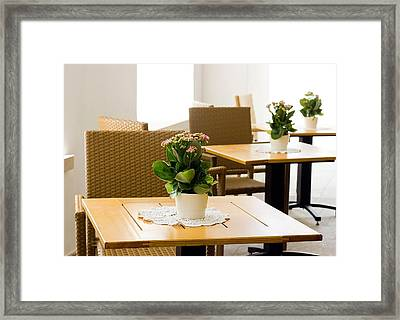 Outdoor Dining Tables Framed Print by Pati Photography
