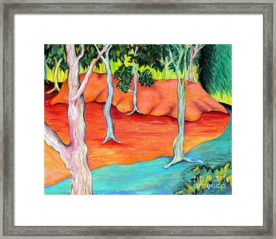 Outdoor Hideout Framed Print by Elizabeth Fontaine-Barr