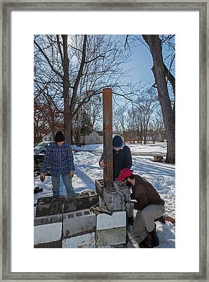 Outdoor Stove Framed Print by Jim West