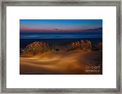 Outer Banks - Before Sunrise On Pea Island I Framed Print by Dan Carmichael