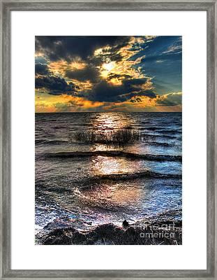 Outer Banks - Radical Sunset On Pamlico Framed Print by Dan Carmichael