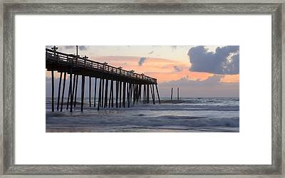 Outer Banks Sunrise Framed Print by Adam Romanowicz