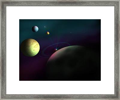 Outer Region Framed Print by Ricky Haug