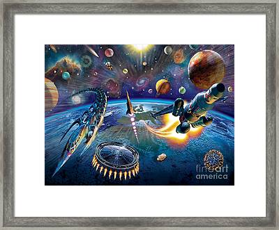 Outer Space Framed Print by Adrian Chesterman