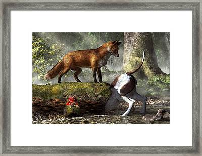 Outfoxed Framed Print by Daniel Eskridge
