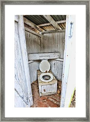 Outhouse A Look Inside Framed Print by Paul Ward