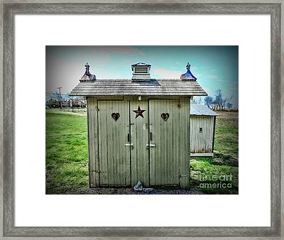 Outhouse - His And Hers Framed Print by Paul Ward