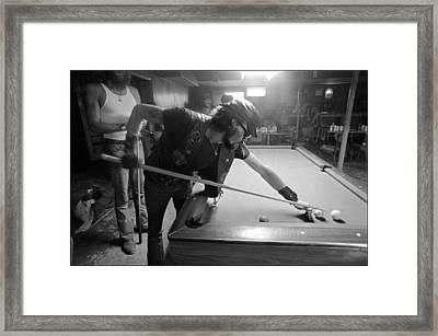 Outlaw Pool Framed Print by Doug Barber