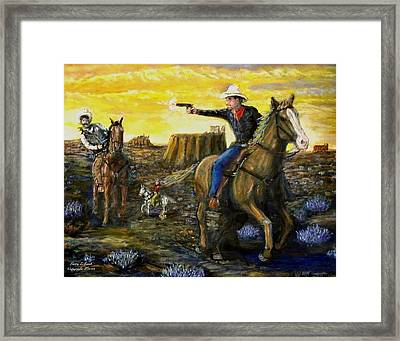 Outlaw Trail Framed Print by Larry E Lamb