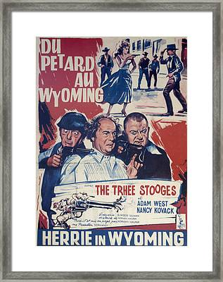 Outlaws Is Coming Framed Print by Official Three Stooges