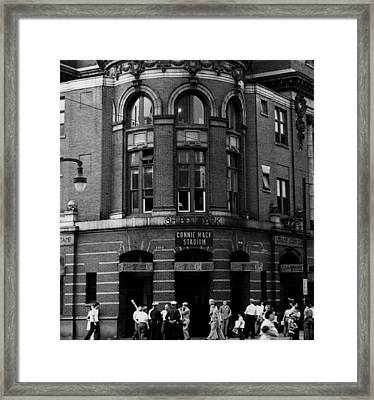 Outside Connie Mack Stadium Framed Print by Retro Images Archive