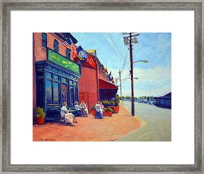 Outside Mcgarvey's Framed Print by Armand Cabrera