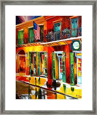 Outside Pat O'brien's Bar Framed Print by Diane Millsap