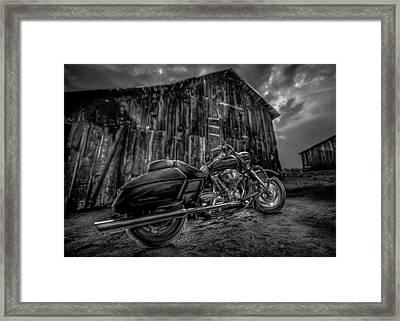 Outside The Barn Bw Framed Print by Yo Pedro