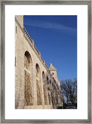 Outside The Basilica Of The Sacred Heart Of Paris - Sacre Coeur - Paris France - 01132 Framed Print by DC Photographer