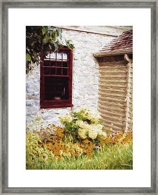 Outside The Window Framed Print by Jo-Anne Gazo-McKim