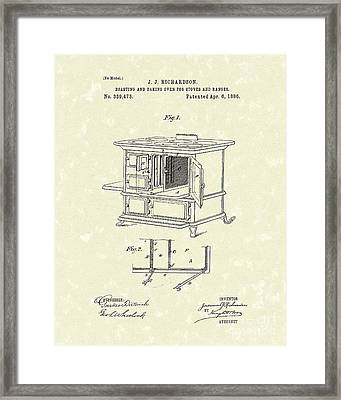 Oven 1886 Patent Art Framed Print by Prior Art Design
