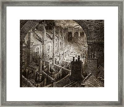 Over London Framed Print by Gustave Dore