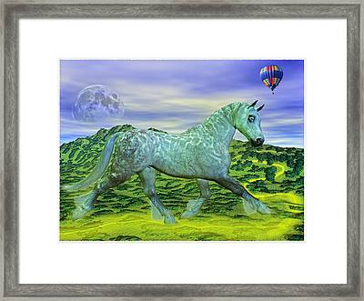 Over Oz's Rainbow Framed Print by Betsy C Knapp