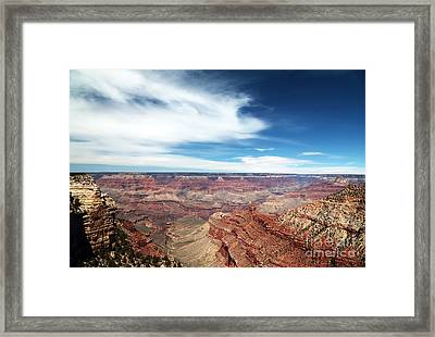 Over The Canyon Framed Print by John Rizzuto