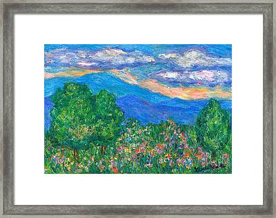 Over The Edge Framed Print by Kendall Kessler