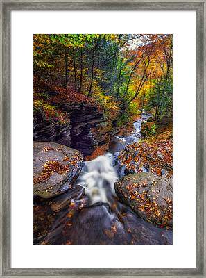 Over The Falls Framed Print by Mark Papke