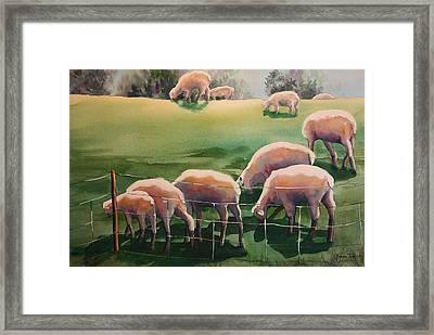 Over The Hill Framed Print by Roxanne Tobaison