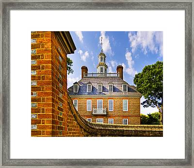 Over The Palace Walls In Williamsburg Framed Print by Mark E Tisdale