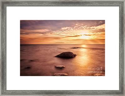 Over The Sea To Arran Framed Print by John Farnan