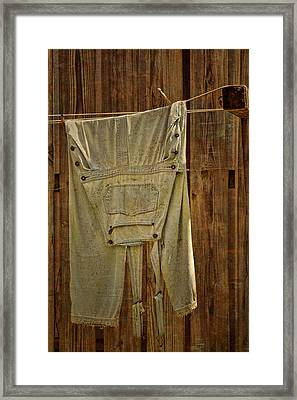 Overalls Drying Framed Print by Nikolyn McDonald