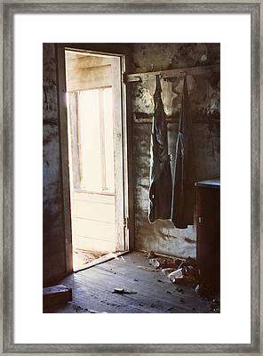 Yesterday's Overalls Framed Print by Marilyn Hunt
