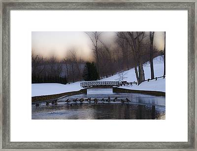 Overbrook Golf Club In Winter Framed Print by Bill Cannon