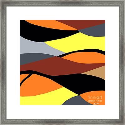 Overlap Framed Print by Eloise Schneider