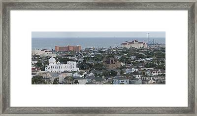 Overlook To The Gulf Framed Print by Barbara Rabek