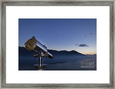 Overlook To The Island Framed Print by Maurizio Bacciarini
