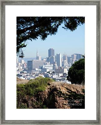 Overlooking The City By The Bay San Francisco  Framed Print by Jim Fitzpatrick