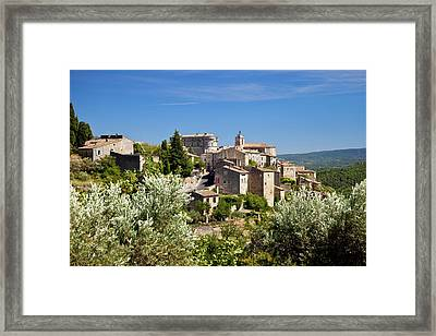 Overlooking The Medieval Town Framed Print by Brian Jannsen