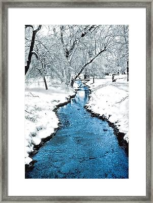 Overnight Snow In Edgemont Park Framed Print by Kellice Swaggerty