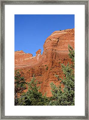 Overpowering Red Rock Wall Framed Print by Jan and Stoney Edwards