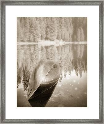 Overturned Canoe Framed Print by Catherine Noel