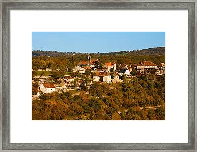 Overview Of Lhospitalet Village Framed Print by Panoramic Images